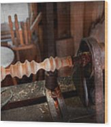 Woodworker - Lathe - Rough Cut Wood Print