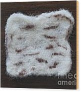 Wool Matzah Wood Print by Heather Hennick
