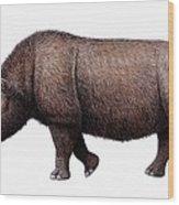 Woolly Rhinoceros, Artwork Wood Print