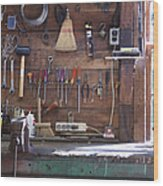 Work Bench And Tools Wood Print
