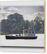 Workboat Wood Print
