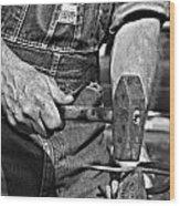 Working Man Wood Print