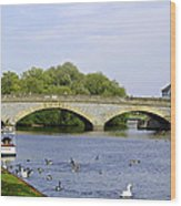 Workman Bridge And The River Avon Wood Print