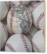 World Baseball Wood Print