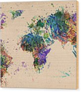 World Map 2 Wood Print