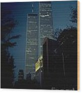 World Trade Center At Dusk Wood Print