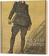 World War I, Poster Shows A Wounded Wood Print by Everett