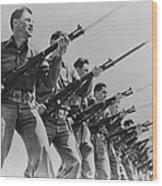 World War II, Bayonet Practice Wood Print by Everett