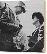World War II. First Lady Eleanor Wood Print