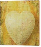 Worn Heart Wood Print