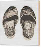 Worn Slippers Wood Print