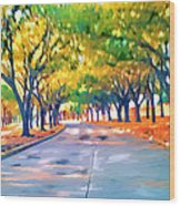 Wortham Blvd Houston Wood Print