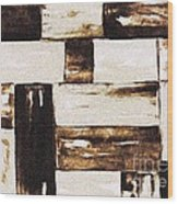 Woven Basket Wood Print
