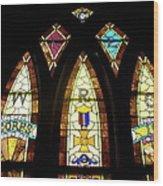 Wrc Stained Glass Window Wood Print