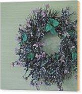 Wreath Wood Print