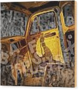 Wreck On The Information Highway Wood Print