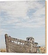 Wrecked Boat Wood Print