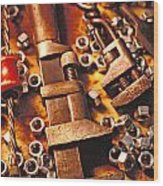 Wrench Tools And Nuts Wood Print