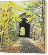 Wrights Covered Bridge Wood Print