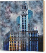 Wrigley In Clouds Wood Print