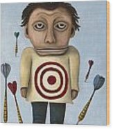 Wtf 2 No Words Wood Print by Leah Saulnier The Painting Maniac