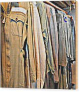Wwii Flight Suits Wood Print