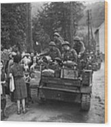 Wwii Liberation Of France Wood Print