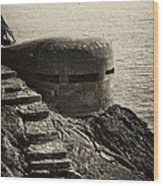 Wwii Pill Box Wood Print by Leslie Leda