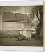Wye Mill - Sepia Wood Print