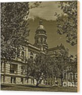 Wyoming Capitol Wood Print