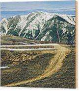 Wyoming Road Wood Print