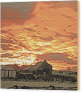 Wyoming Sunrise 1 Wood Print