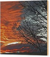 Wyoming Sunrise 2 Wood Print