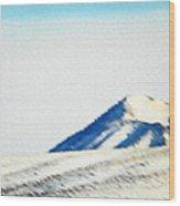 Wyoming-the Land I Love Wood Print
