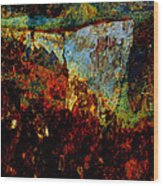 Wyoming Waterfall Abstract Wood Print