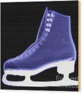 X-ray Of An Ice Skate Wood Print