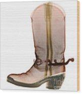 X-ray Of Cowboy Boot Wood Print