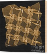 X-ray Of Mathematical Origami Wood Print