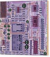 X-ray Of Sound Card Wood Print