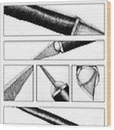 Xacto Knife Wood Print by Kenya Thompson