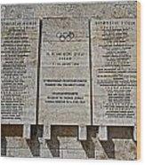 Xi. Olympic Games 1936 - Berlin Wood Print