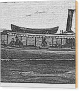 Yacht, 1882 Wood Print