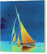 Yacht Gloriana 1891 Wood Print