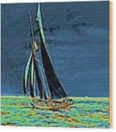Yacht Idler Races For America's Cup 1901 Wood Print