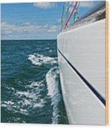 Yacht Lines Wood Print