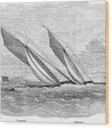 Yacht Race, 1854 Wood Print