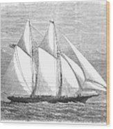 Yacht: Sappho, 1868 Wood Print