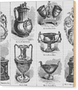 Yachting Trophies, 1871 Wood Print