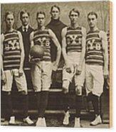Yale Basketball Team, 1901 Wood Print by Granger