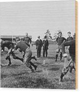 Yale: Football Practice Wood Print
